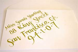 easy diy calligraphy for your wedding invitations miss With writing wedding invitations in calligraphy