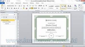 cara membuat sertifikat di ms word simple dan rapih With download template sertifikat word