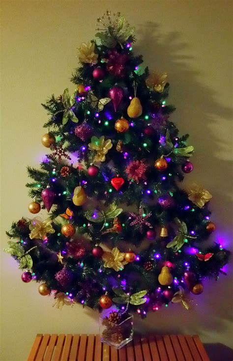 space saving wall mounted christmas solstice tree