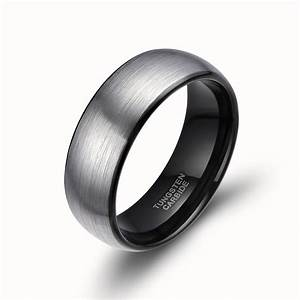 8mm men dome tungsten carbide ring promise engagement for Mens wedding rings comfort fit