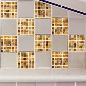 Stickers Carreaux De Ciment : 9 stickers carreaux de ciment mosa ques nuance de brun ~ Melissatoandfro.com Idées de Décoration