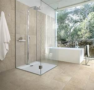 carrelage gres cerame en opus pour sols interieurs With carrelage salle de bain imitation pierre