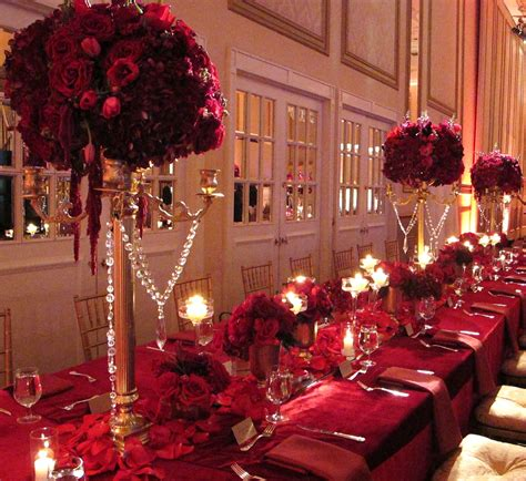 Regal And Royal Gold Candelabra Red Roses Shaadi