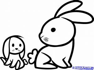 How To Draw Rabbits For Kids Step By Animals Easy Drawing ...