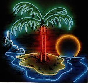 Neon palm tree que Pinterest