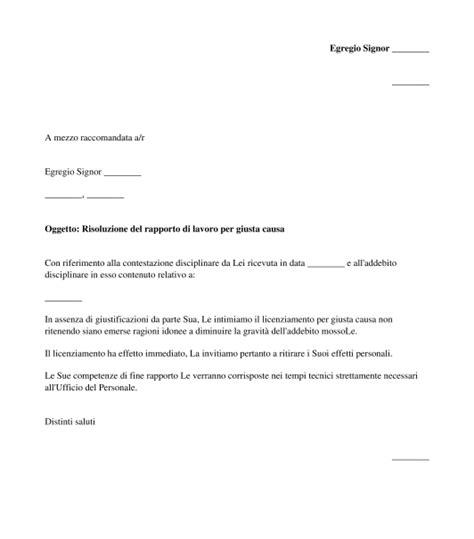 Lettere Dimissioni Volontarie by Lettera Di Licenziamento Modello Word E Pdf