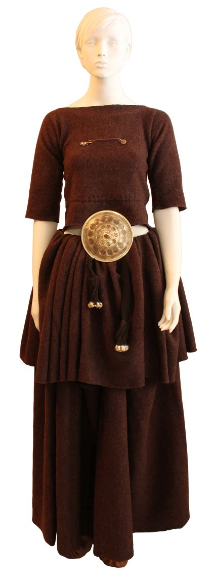 Museum quality reproduction of Bronze Age costume female. Clothing based on those from Danish ...