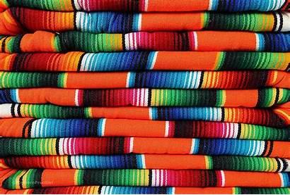Colored Bright Orange Serape Mexican Assorted Stripes
