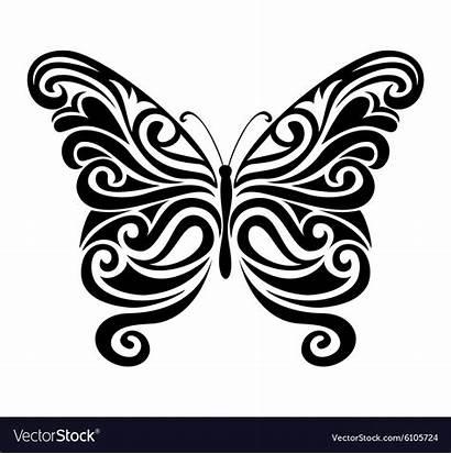 Butterfly Silhouette Vector Ornamental Royalty Vectorstock Vectors