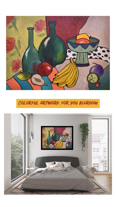 Rendered in marmoset toolbag 2. Rich color original modern art. Pomegranate oil painting for living room. Figs still life in ...