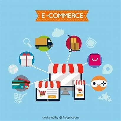 Vector Commerce Computer Flat Website Freepik Vectors