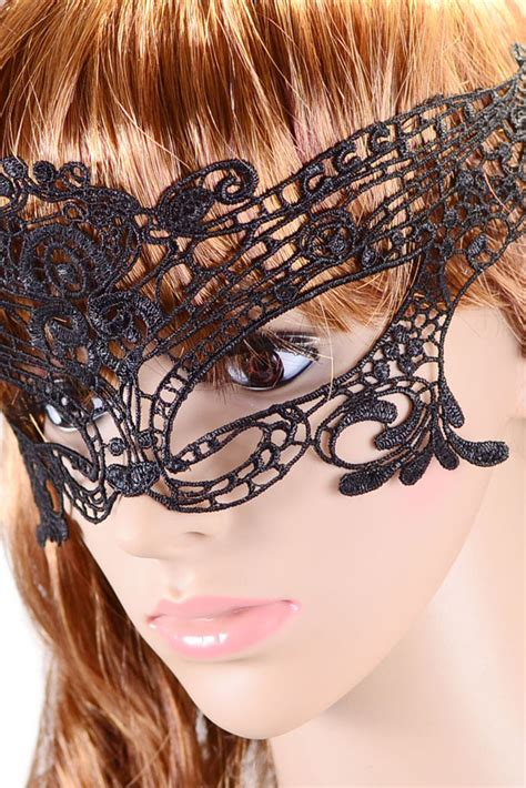 Cheap Halloween Masquerade Party Black Lace Mask