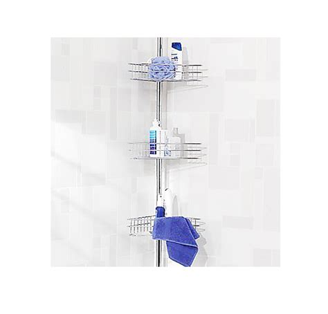 Bathroom Extendable Shelf by Chrome Three Shelf Corner Shower Caddy Extendable Pole