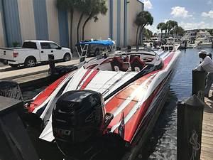 TNT Sea Trials With New 340X MTI Twin Mercury 400 Outboard Cat