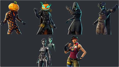 fortnite season  halloween skins pickaxes emotes leaked