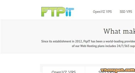 Redeem the super $40 off coupon at. FtpIT - 1 GB RAM VPS Promo, 50% OFF First Month