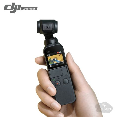 stock dji osmo pocket smallest  axis handheld gimbal stabilizer camera  video  mp