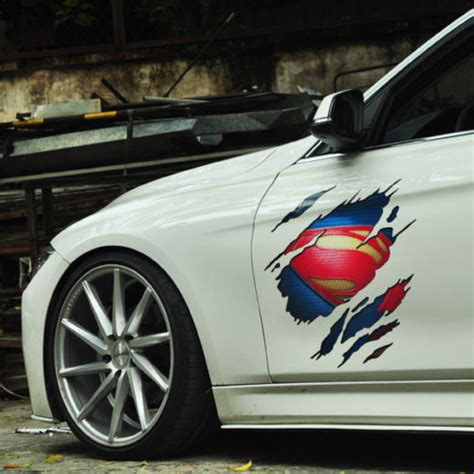 Product Car Sticker Superman Vinyl Auto Hood Door Decal