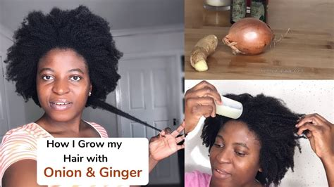 How I Use Onion & Ginger to Grow my Hair | Kenny Olapade