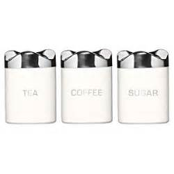 funky kitchen canisters set of 3 funky retro tea coffee sugar houston jars white amazon co uk kitchen home
