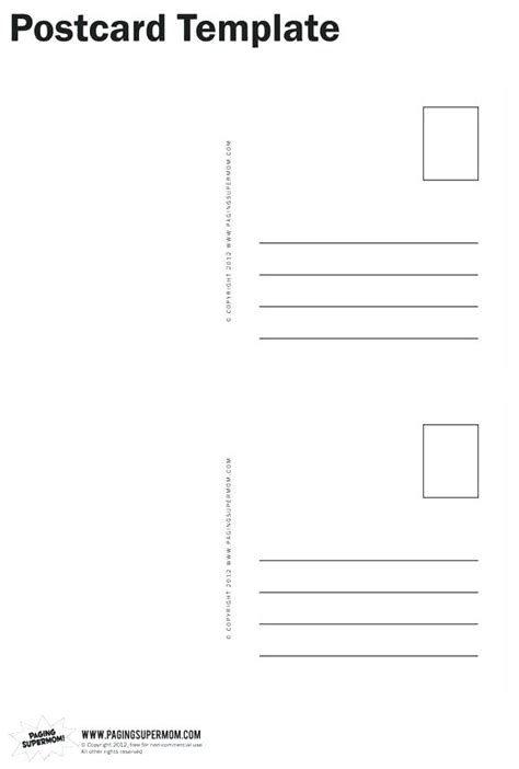 Template For Postcards 4 Per Page Avery Postcard Template 4 Per Page Avery Postcard Template