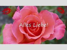 Valentinsgruß mit Musik und Rose Alles Liebe