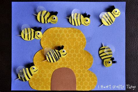 busy bees craft bee crafts and summer crafts 881   12869667e8f85fe06fbd8d1a6ecafe7f bee crafts preschool crafts