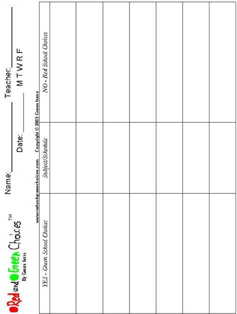 printable blank charts  teachers printable pages