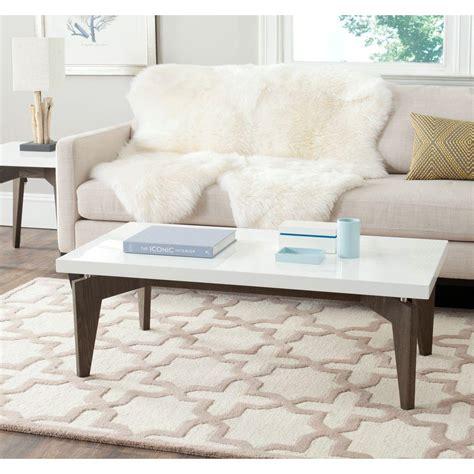 safavieh coffee table safavieh josef brown coffee table fox4223a the home