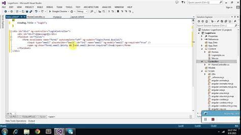 login form validation in angularjs with asp net mvc youtube