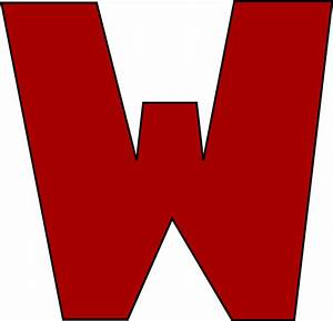 Red Letter W Clip Art - Red Letter W Image