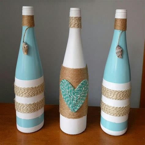 wine bottle ls crafts beach themed wine bottles for the lovely bride to be