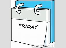 Calendar dayweekcalendarfriday7615 Classroom Clipart