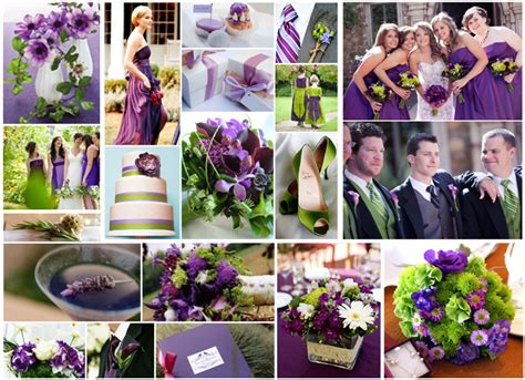 wedding theme purple and green purple and lime green i wanted the white and black themed but this this could make me switch