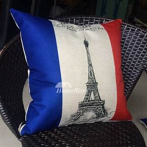eiffel unique designer blue gray red building linen cheap With cheap gray throw pillows