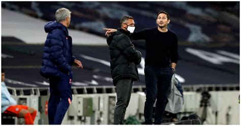 Lampard, Mourinho involved in touchline row during Carabao Cup