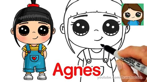draw agnes easy despicable  youtube