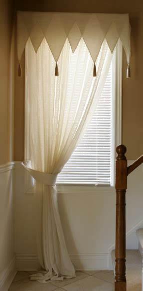 sewing drapes and curtains how to sew a triangle valance curtain