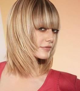 Coupe Cheveux Avec Frange : coupes de cheveux mi longs avec frange ~ Nature-et-papiers.com Idées de Décoration