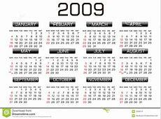 Calendar 2009 Stock Images Image 7033574