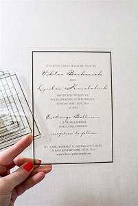picture of classic acrylic wedding invitations were With acrylic wedding invitations diy