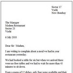 letter  english formal template