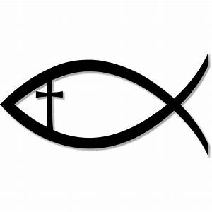Christian Fish Jesus Christ Cross Faith Religion bumper ...