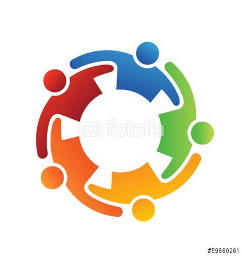 Teamwork Clip Vector Logo Vector Teamwork Embrace 5 Logo