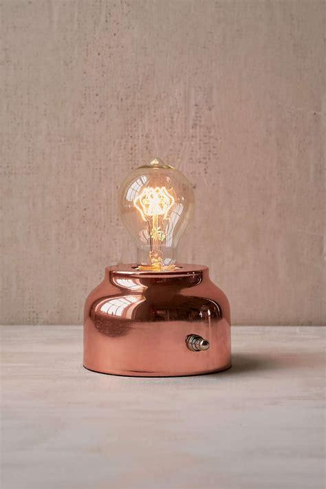 general store lamp  rose gold home decor popsugar