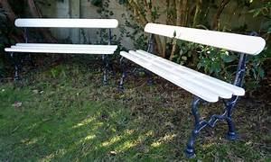 Banc De Jardin En Fonte : rare paire de bancs de jardin anciens pied fonte ~ Farleysfitness.com Idées de Décoration