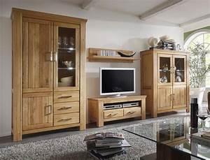 Wohnwand 2 Teilig : wohnwand wildeiche 4 teilig teilmassiv medienwand tv wand wohnzimmer viterbo 2 ebay ~ Indierocktalk.com Haus und Dekorationen
