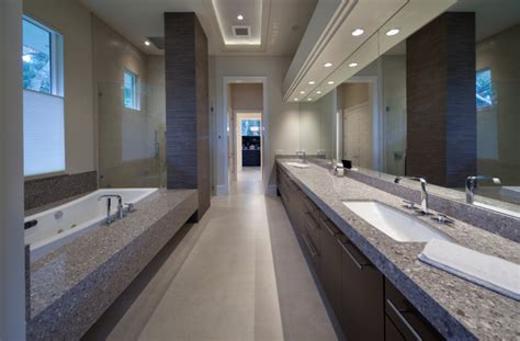 Silestone Alpina White Master Bath & Tub Deck