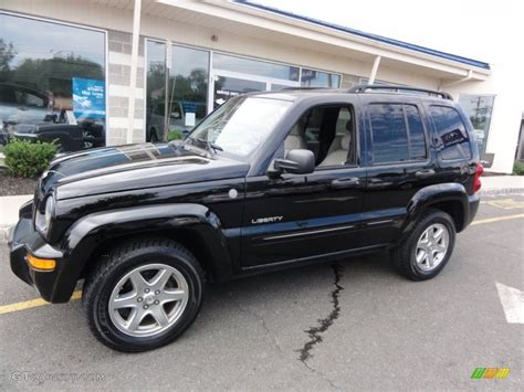 black jeep liberty with black rims black clearcoat 2004 jeep liberty limited 4x4 exterior