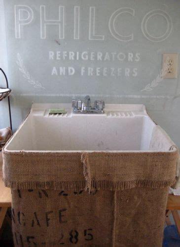 Burlap Utility Sink Skirt by Burlap Laundry Room Sink Skirt Lavaderos Y Cuartos De